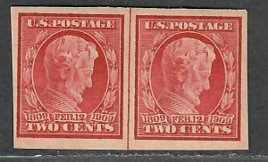$US Sc#368 M/H/VF-XF, imperf line pair, Cv. $27.50