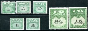 US RE Wine Revenue Series of 1941 Lot of 7 Including RE152