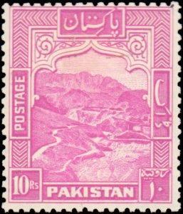 Pakistan #41b, Complete Set, Perforated 12, 1948-1957, Hinged