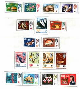 FIJI Scott 240-256 MH* 1968  complet set of 17
