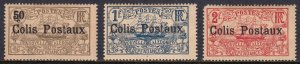 New Caledonia - Scott #Q1-Q3 - MH - Scuff on Q2, heavily toned - SCV $5.15