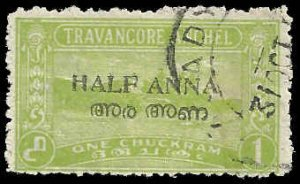 India - Travancore - Cochin - #3 - Used - SCV-0.30