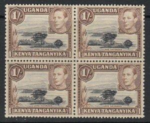 KUT, Sc 80 (SG 145), MNH block of four (single toned spot)