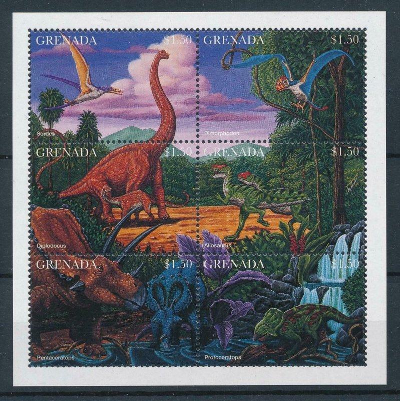 [107113] Grenada 1997 Prehistoric animals dinosaurs Allosaurus Sheet MNH