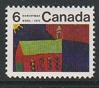1970 Canada - Sc 528 - MNH VF - 1 single - Children's Art - Church