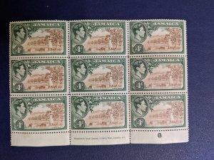 Jamaica 122 VFNH multiple, CV $10