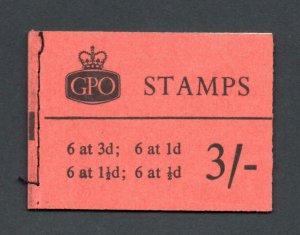 3/- GRAPHITE BOOKLET APRIL 1960 SG M21g Cat £325