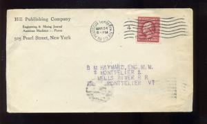 Scott 344 Schermack Cover: Hill Publishing Co. Perforated Control Mark (#344-S)