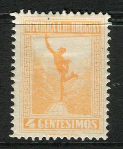 URUGUAY;  1921 early Mercury issue Mint hinged 4c. value