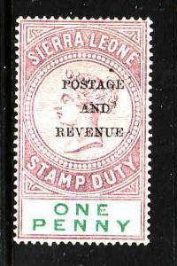 Sierra Leone-Sc#47-unused hinge 1p lilac & green-QV-1897-