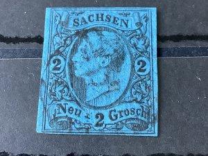 Saxony 1855 Grid Number 3 for Dresden Neustadt train station Cancel Stamp 57161
