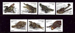 Tanzania 1463-69 MNH 1996 Crocodiles and Alligators    (ap4044)