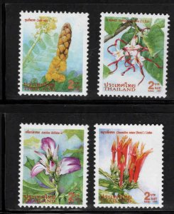 Thailand  Scott 1777-1780 Flower MNH** 1997 stamp set
