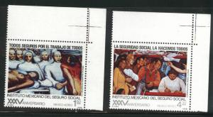 Mexico Scott c553-554 MNH** Diego Rivera airmail ART set