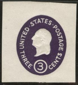 US Envelope cut square Scott U534d Die 5