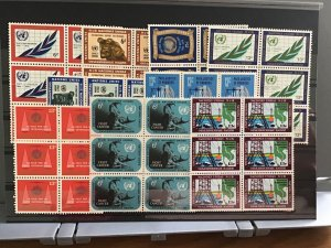 United Nations mint never hinged Blocks of 6   Stamps   R30342