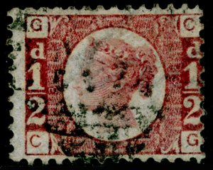SG48, ½d rose-red plate 3, USED. Cat £55. CG