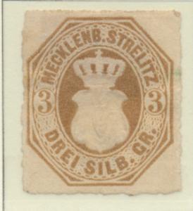 Mecklenburg-Strelitz Stamp Scott #6, Mint, No Gum, Hinge Remnant - Free U.S. ...