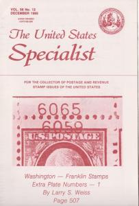 The United States Specialist Vol. 56 No. 12 - December 1985