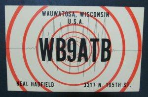 6343 Amateur Radio QSL Card Wauwatosa USA