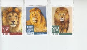 2018 Sierra Leone Lions (3) (Scott NA) MNH