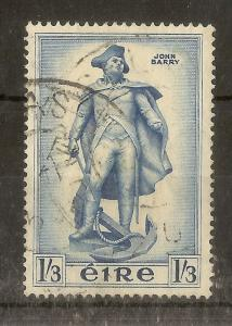 Ireland 1956 1/3d Commodore Barry SG163 Fine used