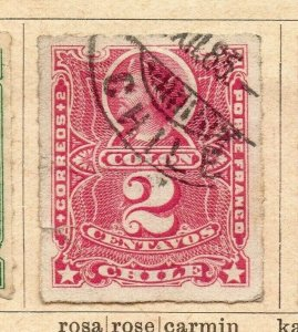 Chile 1880-85 Early Issue Fine Used 2c. NW-09256
