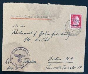 1943 Kiev Ukraine Germany General Commissioner Diesntpost cover To Berlin