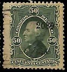 94941bF  - MEXICO -  STAMPS  - Yvert # 59 (B - THIN PAPER )   -  USED