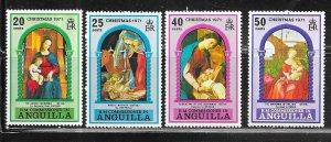 Anguilla #132-135 1971 Christmas  (M)  CV $1.35