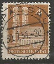 GERMANY, 1948, used 4pf, Munich Scott 635a