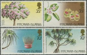 Pitcairn Islands 1983 SG242-245 Trees set MNH