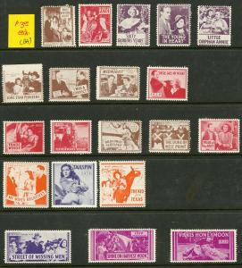 Early Collection of 1930's Movies Labels
