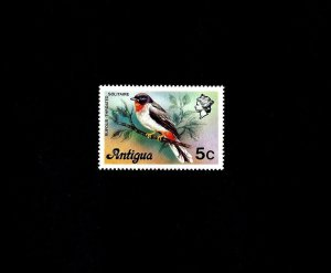 ANTIGUA - 1976 - BIRD - RUFOUS-THROATED SOLITAIRE - MINT - MNH SINGLE!