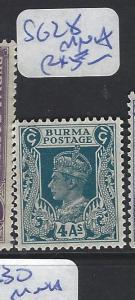 BURMA (P0410B) KGVI  4A   SG 28  MNH