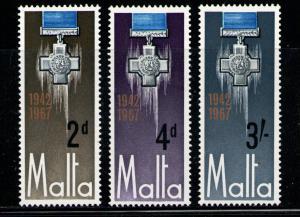 MALTA 1967 MNH SC.361/363 George Cross