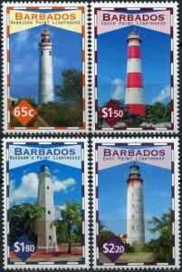 Barbados 2013. Barbados Lighthouses (MNH OG) Set of 4 stamps