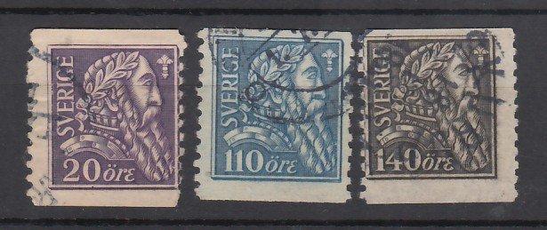 J25618 JLstamps 1921 sweden set used #194-6 vasa