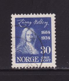 Norway 161 U Ludvig Holberg, Writer