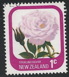 New Zealand #584 1c Sterling Silver Rose Flower