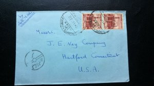 "RARE EGYPT CANCEL ""FOREIGN TRAFFIC"" CENSOR COVER TO USA HARD TO FIND"