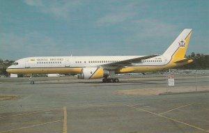 7951 Aviation Postcard  ROYAL BRUNEI B.757-2M8 Airlines