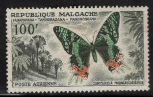 Madagascar Malagasy C64 Used butterfly stamp