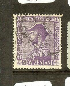 NEW ZEALAND (P0308B) KGV 3/- ADMIRAL SG 467  VFU