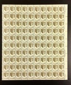 1584  To Cast a Free Ballot  Americana Issue Shiny gum  MNH 3  100 sheet  1977