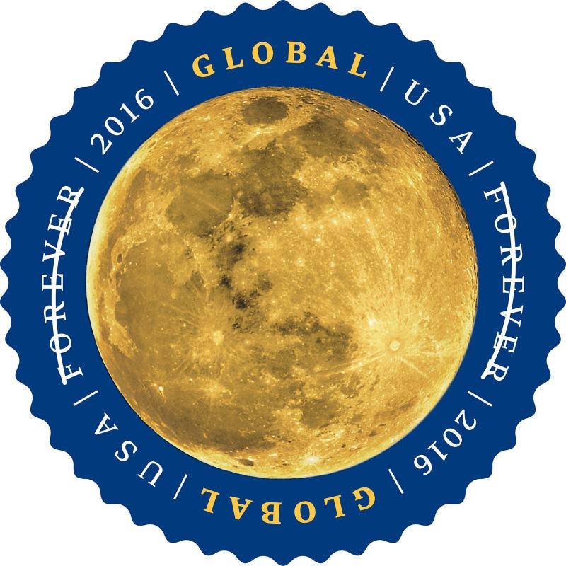 2016 $1.15 Global International Forever: The Moon Scott 5058 Mint F/VF NH