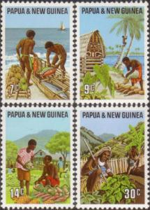 Papua New Guinea 1971 SG204-207 Primary Industries set MNH