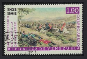 Venezuela 140th Anniversary of Battle of Carabobo Centres 1.90B 1961 Canc