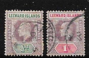 Leeward Islands #20-21  ( U) CV $1.95
