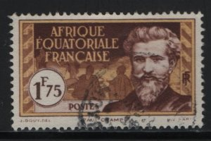 FRENCH EQUATORIAL AFRICA, 63, USED, 1937-40, PAUL CRAMPEL